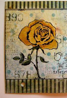 *Wendy Vecchi STENCILS For Art 3 FRESH FLOWERS Studio 490
