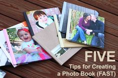 5 Tips for Creating a Photo Book FAST. Photo books don't have to be time consuming. This post offers easy solutions for putting books together quickly. #photography #memorykeeping #scrapbooking #photos #kids #family