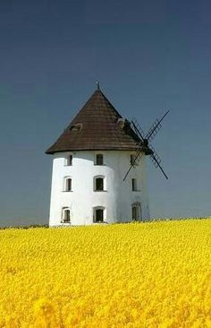 Windmill in the guard, zBohemua Central. Czech - Martha López ❤ - - Windmill in the guard, zBohemua Central. Tilting At Windmills, Old Windmills, Moulin France, Water Tower, Le Moulin, Czech Republic, Lighthouse, Places To See, Netherlands