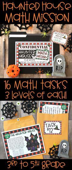 Get students excited about math and problem solvin Halloween Math, Halloween Activities, Halloween Season, Holiday Activities, Fun Activities, Educational Activities, Halloween Treats, 3rd Grade Classroom, Math Classroom