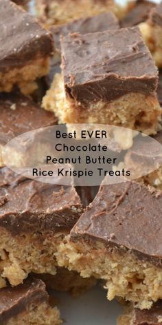 Best Ever Chocolate Peanut Butter Rice Krispie Treats