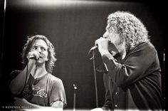Eddie Vedder and Robert Plant