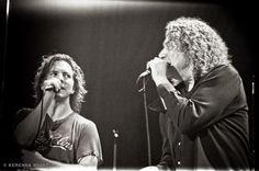 Eddie Vedder and Robert Plant