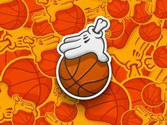 #basketball #hand #baller #sticker #stickerdesign #bball #inspiration #illustration #dribbble #behance #vector #printdesign #Graphicdesign #graphic - Dribbble the Ball by Carsten Greif