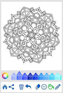 Flowers Mandala Coloring Book Screenshot Thumbnail