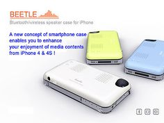 iPhone4/4S Speaker Case Bluetooth Wireless High Quality/Powerful Sound (4colors)