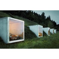 By http://www.instagram.com/ac_seventhree / Pinched from the Brutal house Twitter feed Garagenatelier by Peter Kunz Architects Herdern Switzerland