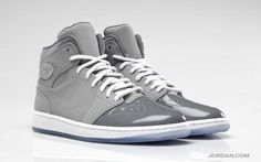 NIKE AIR JORDAN 1 RETRO '95 MEDIUM GREY/WHITE-COOL GREY #sneaker