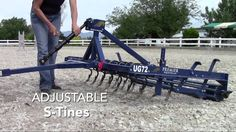 Premier Groomer by Premier Equestrian is perfect for tilling, mixing, leveling, and compacting arena footing. NEW edging tool pulls footing from arena edges!  http://premierequestrian.com/category/Horse-Arena-Footing.html