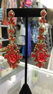 Chandelier Red Drop Earrings