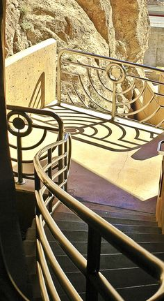 Art Deco stairwell  at Hoover Dam...