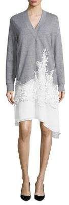 BCBGMAXAZRIA Lace-Trim V-Neck Sweater Dress #spring, #ad, #style