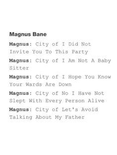 City of Magnus Bane