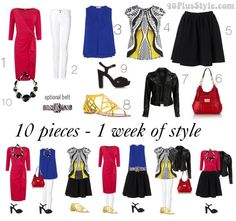 Exercise: create a 10 piece wardrobe capsule and mix and match these 10 pieces for a whole week #newyearstylechallenge