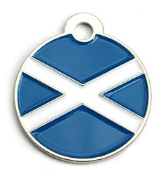 Scottish Flag Dog Id Tag Small Bone | Happy Dog Days