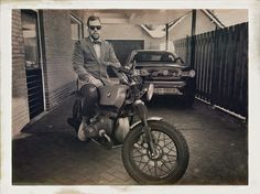 Son and his café racer (BMW R45) lookin great for the distinguished gentlemen's ride 2015