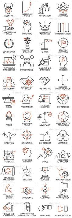 Icons Set of Business Management part 3 Business Icons - Business Management - Ideas of Business Management - Icons Set of Business Management part 3 Business Icons Web Design, Icon Design, Logo Design, Flat Design, Design Art, Business Icons, Business Marketing, Business Design, Icon Set