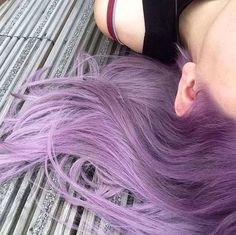 Idée Couleur & Coiffure Femme 2017/ 2018 : Image via We Heart It #aesthetic #grunge #hair #pale #pastel #pretty #purple #pu