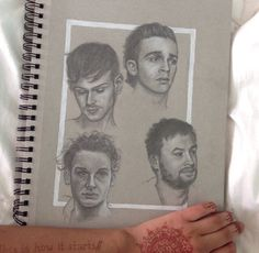 the 1975 chalk drawing. this is amazing!!