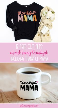 We're sharing 17 free cut files that are all about being thankful including a Thankful Mama SVG File! Perfect for Thanksgiving or anytime you want to show a bit of gratitude! These cut files can be used for crafting with your Cricut Maker, Cricut Explore, Cricut Joy or Silhouette Cameo! #Thankful #ThankfulMama #CutFile #SVG #FreeSVG #Thanksgiving #CricutCrafts #Handmade #mom #momlife Cutting Files, Silhouette Cameo, Thankful, Cricut Explore, Thanksgiving, Free, Joy, Creative, Projects
