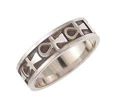 Sterling silver 'Ankh' ring