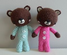 FREE Pattern: P.J. Teddy. Aren't they adorable! From All About Ami!
