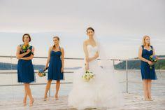 Pacific chiffon looks beautiful in this summer wedding! @stylemepretty