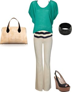 """""""Teal, tan and black"""" by mandys120 ❤ liked on Polyvore"""