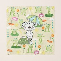 Raining Dogs and Frogs Scarf - personalize custom customizable
