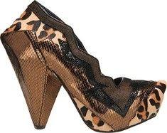"Irregular Choice Amazonianic - Bronze Leopard Leather with FREE Shipping & Returns. Take your wardrobe to the next level !!!!!!  heel 5""& 1 1/2"" platform. YUM !!!!!!"