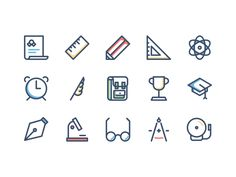 Hello everyone! Here's a new freebie containing 15 back-to-school inspired icons. Enjoy!