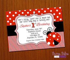 Lady Bug / Ladybug Birthday Printable Invitation by ButtonBolita, $6.99