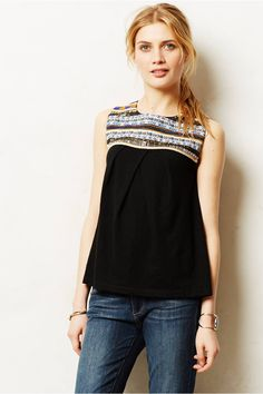 Tula Embroidered Tank - anthropologie.com