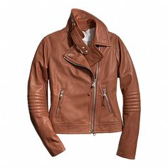 SLIM LEATHER MOTO JACKET