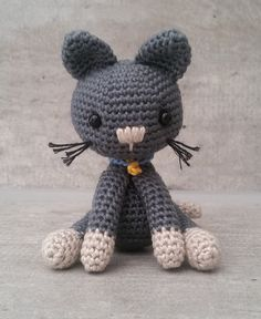 "Kitty the Cat - Free Amigurumi Crochet Pattern - PDF File English Version click ""download"" here: http://www.ravelry.com/patterns/library/kitty-the-cat"