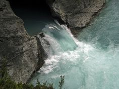 Falls on the Cross River, B.C., Canada