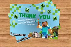 minecraft thank you cards - Google Search