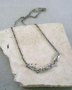 N36 pierced bar trio necklace — KathyVanKleeck