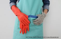 SELF THERAPY Gloves fit under rubber gloves. The bacteria in the rubber gloves  may cause food poisoning or hand eczema.  By wearing SELF THERAPY Gloves under the rubber gloves, will be prevented from food poisoning and helped keep the hands healthy especially for the people who work in the kitchen for long time. SELF THERAPY gloves can reduce the odor in the rubber gloves as well as. www.iglovesmall.com