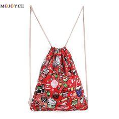 2017 Causal Canvas Women's Backpack Drawstring Travel Beach Bag Women Backpacks for Teenager Girls School Bag Bolsa Mochila