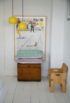 Repinned > Rie Elise Larsen: I Love her colorful metal lamps, lamp sockets and cables and so on.