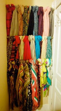 Creative storage for scarves.