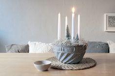 Die Raumfee: Adventskranz im Gugelhupf // Advent wreath in a bundt cake » Übersetzung(en) tabellarisch anzeigen | immer