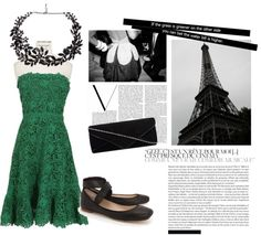 """Cute green dress outfit!!!"" by soccerfashionrocker on Polyvore"