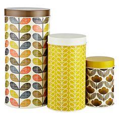 Buy Orla Kiely Multi Stem Kitchen Storage Tins, Set of 3 Online at johnlewis.com