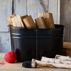 Metal Mop Bucket - Large Black Oval #westelm