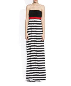 Love this Black & White Bold Stripe Strapless Dress on #zulily! #zulilyfinds