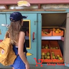 orange. #backpack #lookbook #vogue