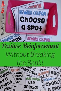 Don't break the bank using positive reinforcement with your students! Give these fifty free student rewards a try instead!