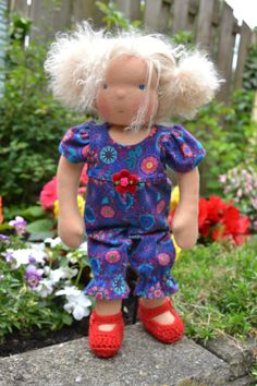 Kimmey  Handmade Waldorf Doll  All Natural Tibetan by krasik, $220.00